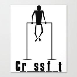 Crossfit Hangman game. Canvas Print