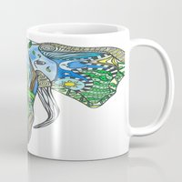 tatoo Mugs featuring Tatoo Elephant by PepperDsArt