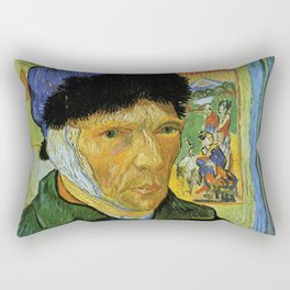 Self Portrait with Bandaged Ear by Vincent van Gogh Rectangular Pillow
