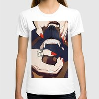 nail polish T-shirts featuring Nail & Dog by Katerina Vlasyuk
