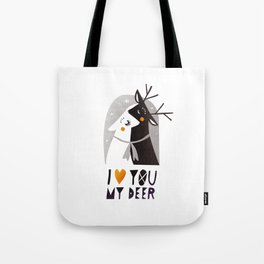 I love you my deer Tote Bag