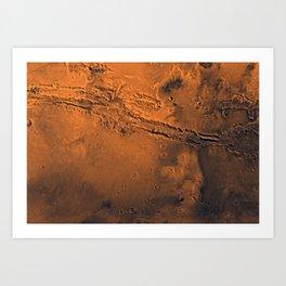 Valles Marineris, Mars Art Print