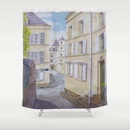 Narrow streets in Chinons old town (France) Shower Curtain