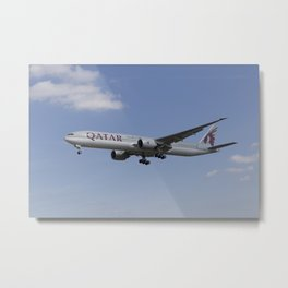 Qatar Airlines Boeing 777 Metal Print