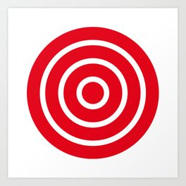 Bullseye Target Art Print