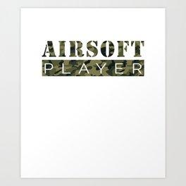 Airsoft Player Camo Art Design Art Print