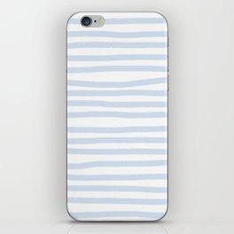 Light Blue Stripes Horizontal iPhone Skin
