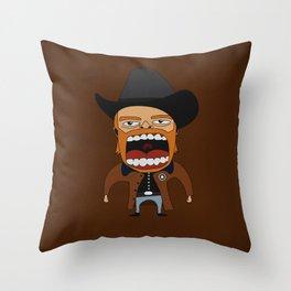 Screaming Walker Texas Ranger Throw Pillow