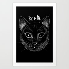 DEATH. (Black) Art Print