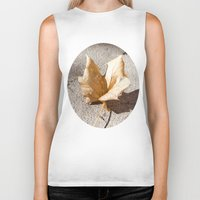 leaf Biker Tanks featuring leaf by Deviens