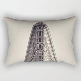 Flatiron Building, original New York photography, skyscrapers, wall decoration, home decor, nyc b&w Rectangular Pillow