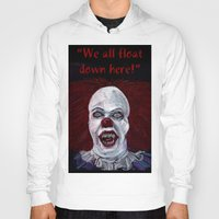 pennywise Hoodies featuring Pennywise by Eric Dockery