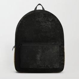 Black grunge & gold torn Backpack