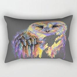 Colorful Owl Dark Background Rectangular Pillow