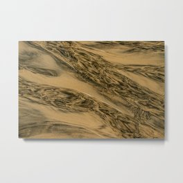 Water And Sand Abstract Metal Print