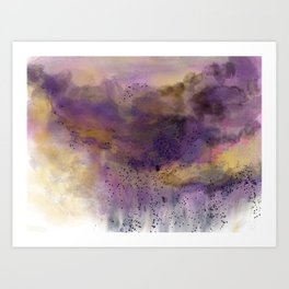 Purple Storm Art Print