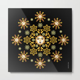 Snow Flake by ©2018 Balbusso Twins Metal Print