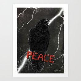 Crow For Peace Art Print