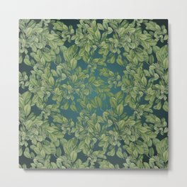 Verdant Leaves Metal Print