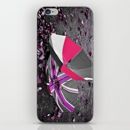 She came in with the Autumn wind- pink iPhone Skin
