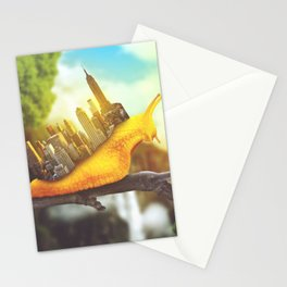 snail in the city Stationery Cards