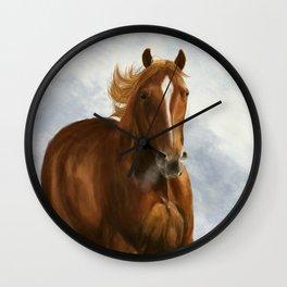 Wintery Breath Wall Clock