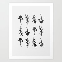 plants Art Prints featuring plants by Ingrid Winkler