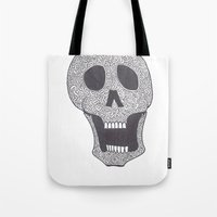 celtic Tote Bags featuring Celtic Skull by ronnie mcneil