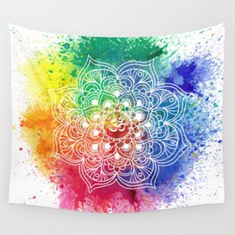 Multicolor mandala Wall Tapestry