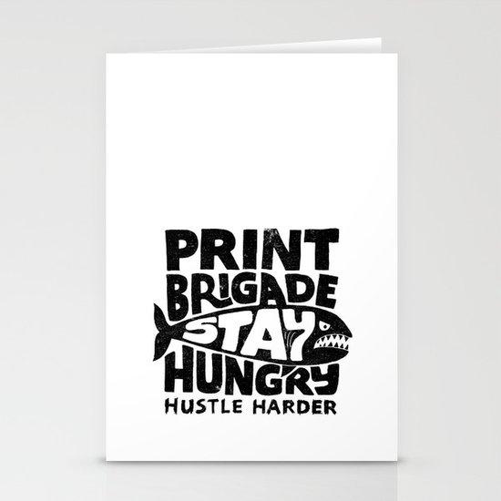 Hustle Harder Stationery Cards