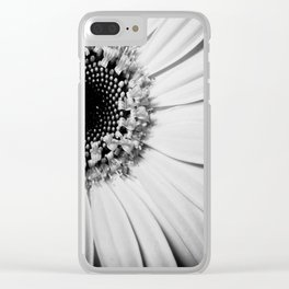 Black and white sunflower Clear iPhone Case