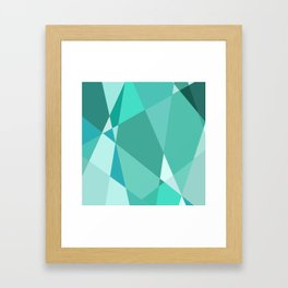 Minty Jagged Edges Framed Art Print