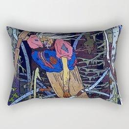 """""""Baba Yaga"""" the Witch by Ivan Bilibin Rectangular Pillow"""