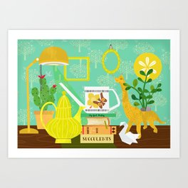 Still life in yellow Art Print