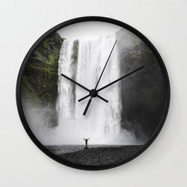 Big Waterfall Landscape Wall Clock