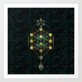 Decorative Sacred Geometry symbol Art Print