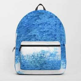 Blue Jeans abstract watercolor Backpack