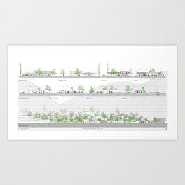 Living comunity blueprints Art Print