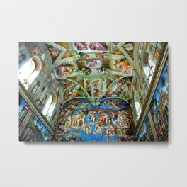 Spectacular Sistine Chapel Frescoes, Rome, Italy color photograph / photography / photographs Metal Print