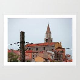 Town in Croatia Art Print