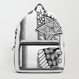 Zentangle P Monogram Alphabet Initials Backpack