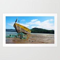 Jetty Boating Art Print