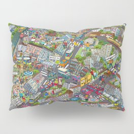Illustrated map of Berlin-Prenzlauer Berg Pillow Sham