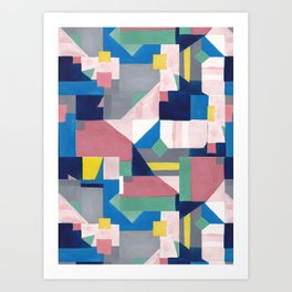 Pastel Abstract Art Print