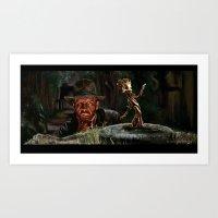 Raiders Groot Art Print