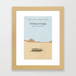 Film Friday No. 2, Raising Arizona Framed Art Print