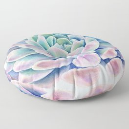 succulent watercolor 11 Floor Pillow