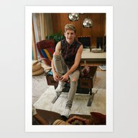 niall horan Art Prints featuring Niall Horan by behindthenoise