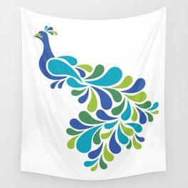 Retro Peacock Wall Tapestry