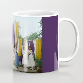 Lafayette, We Are Here! Suffragists protest across from the White House in 1918 Coffee Mug